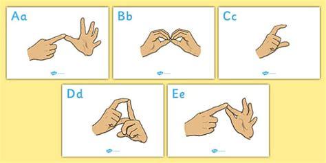 British Sign Language Alphabet Signs