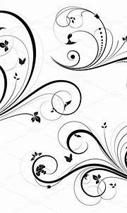 Swirl Floral Element Vector ~ Illustrations on Creative Market