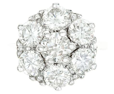 stone diamond cluster ring vaughan antiques