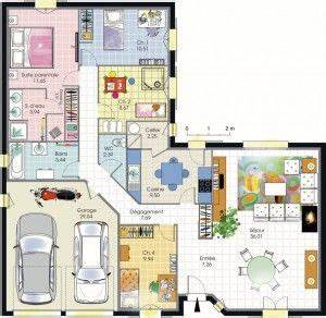 17 meilleures idees a propos de plan maison 4 chambres sur With plan de maison 110m2 4 maison accessible detail du plan de maison accessible