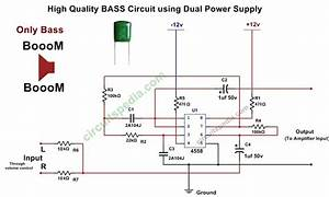 Ic 4558 Subwoofer Bass Booster Circuit Diagram   Bass