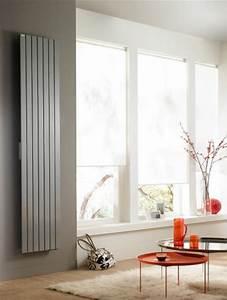 Radiateur Electrique Vertical 2000w Design : radiateur fassane electrique vertical blanc 2000w acova ~ Premium-room.com Idées de Décoration