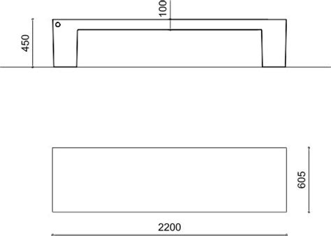 dimensioni panchina panchina moderna metalco