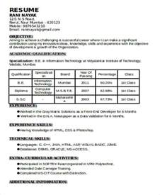 1 year experience resume format for php 48 resume