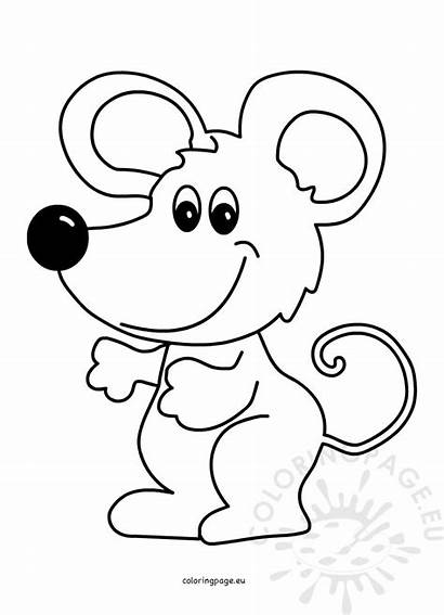 Mouse Cartoon Illustration Vector Coloring Animal Coloringpage