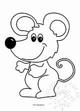 Mouse Cartoon Illustration Vector Coloring Animal sketch template