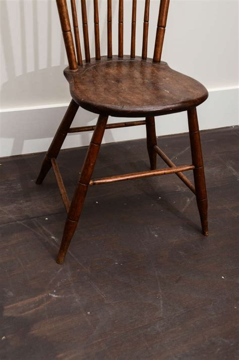 wooden side chair with spindle back at 1stdibs