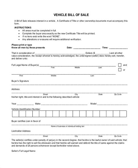 20833 blank bill of form free bill of sle forms 8 free documents in pdf