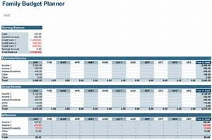 Family budget planner free budget spreadsheet for excel for Annual projection template