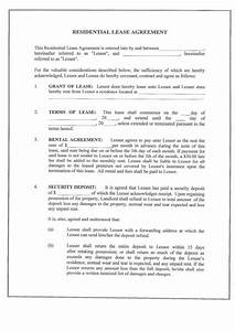 Sample Letter Of Payment Agreement Free Printable Residential Lease Form Generic