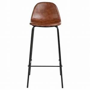 Tabouret De Bar Cuir : tabouret de bar en simili cuir vladi marron veo shop ~ Teatrodelosmanantiales.com Idées de Décoration