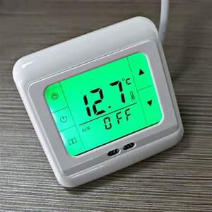 Heizung Thermostat Digital : digital thermostat touchscreen programmierbar raumthermostat unterflur heizung ebay ~ Frokenaadalensverden.com Haus und Dekorationen
