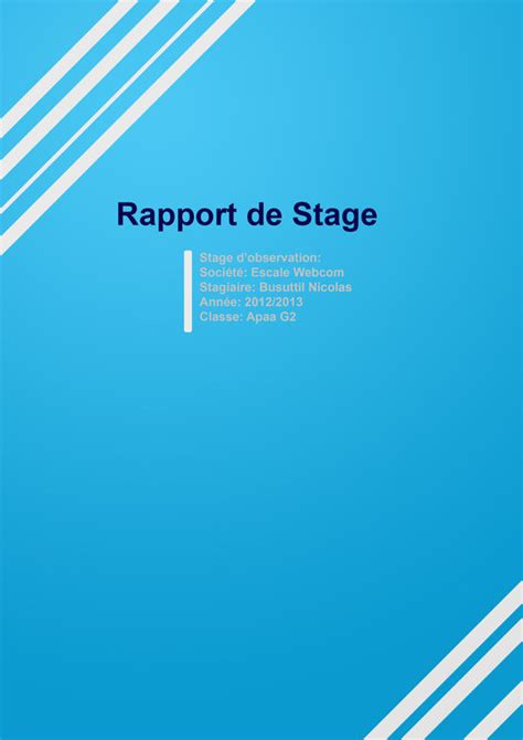 rapport de stage cuisine collective modele rapport de stage related keywords modele rapport