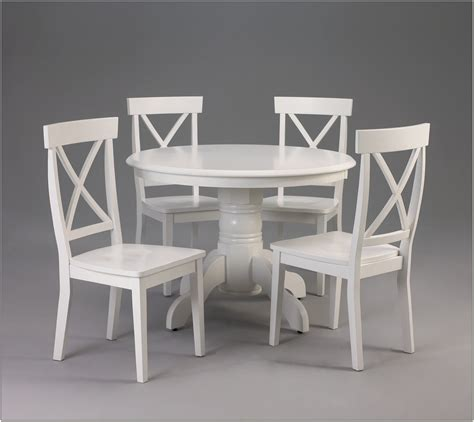 Ikea White Round Dining Table And Chairs  Chairs Home
