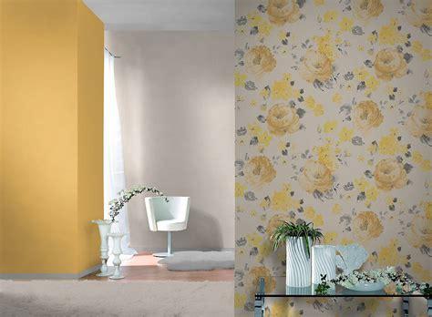 rasch tapeten florentine tapete rasch florentine uni gelb 448580