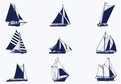sailing ship vector pack   vectors clipart