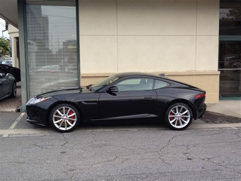 Black F-type Coupe With Black Side Vents