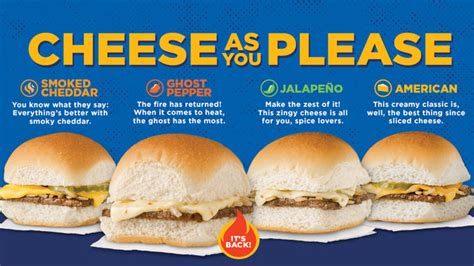white castle brings   ghost pepper cheese slider
