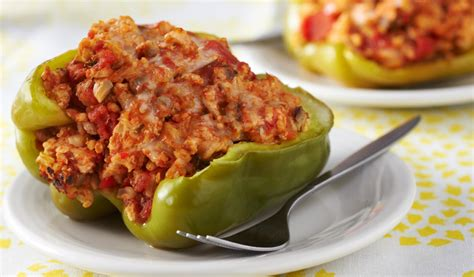 stuffed peppers stuffed green peppers recipe dishmaps
