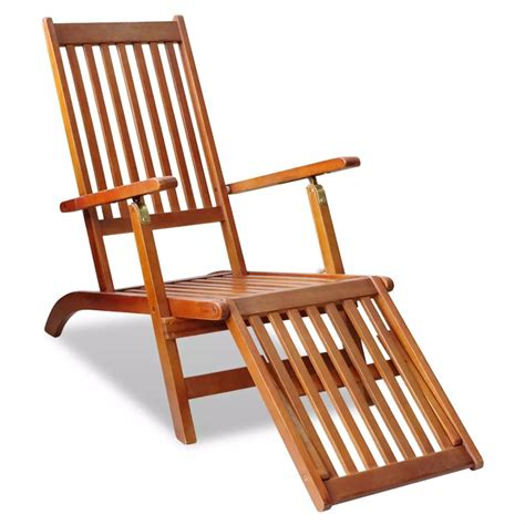 Outdoor Deck Chairs by Vidaxl Co Uk Outdoor Deck Chair With Footrest Acacia Wood