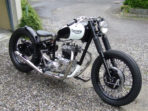 Triumph Bobber Black & White By Fredy