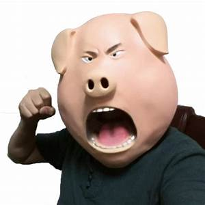 2018, Funny, Pig, Animal, Latex, Masks, Halloween, Adult, Dance, Scary, Head, Set, Party, Decorating, Angry