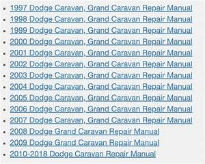 Download Dodge Caravan Repair Manual