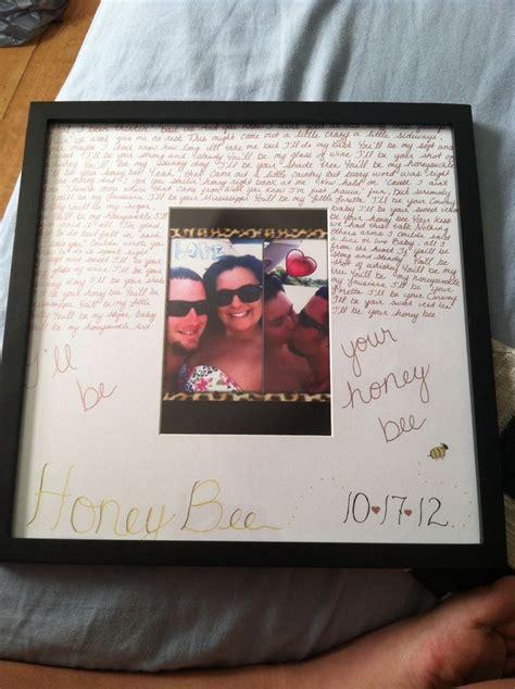 anniversary gift 1 year anniversary gift idea cute boyfriend thingys pinterest lyrics of wedding pics and