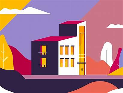 Dribbble Hotel Animation Flat Recent Project Shot