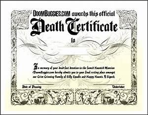 fake death certificate template creator sample templates With fake death certificate template
