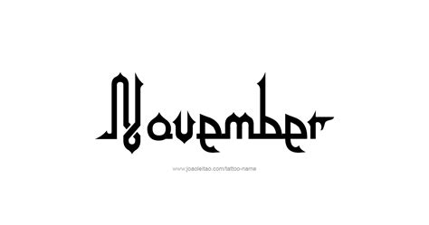 november month  tattoo designs tattoos  names