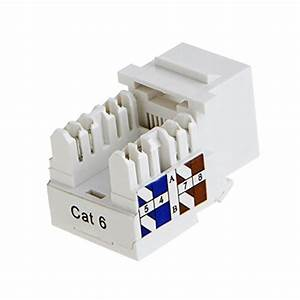 Cablecreation 10  Rj45 Keystone Module Connector  Keystone Punch Down Stand   White