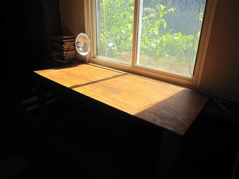 Window Sill Table by Hometalk Expanding A Window Sill With A Two Legged Table