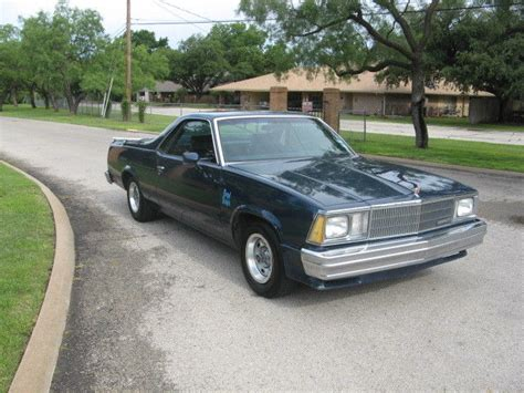 el camino royale chevrolet el camino 1980 blue for sale 1w80har423317