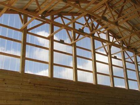 corrugated polycarbonate skylight sidelight panels