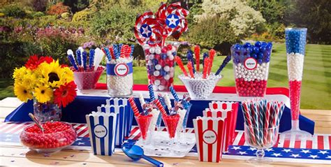 patriotic   july decorations table centerpieces fftk