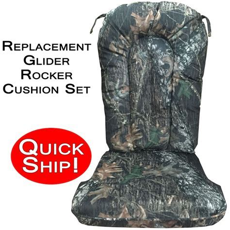 Quick Ship! Glider Rocker Cushion Set   Mossy Oak New