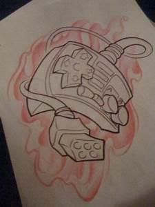 Original Nintendo Controller Tattoo Sketch Tattoo Ideas