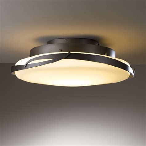 led flush mount ceiling lights hubbardton forge 126742 led flora led semi flush mount
