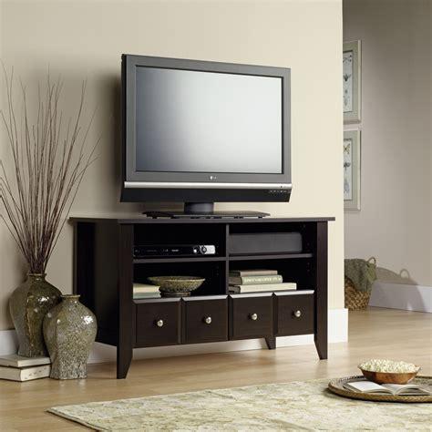 Shoal Creek Desk In Jamocha Wood by Sauder Shoal Creek Jamocha Wood Flat Panel Tv Stand 409795