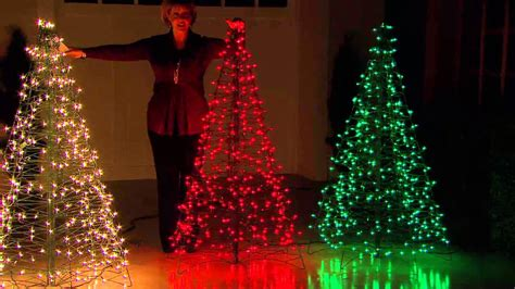 make tree of lights pre lit 5 fold flat outdoor tree by lori greiner with dan wheeler