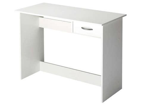 bureau simple blanc bureau 1 tiroir alpin coloris blanc vente de bureau