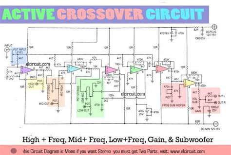 Active Crossover Circuit Uses Lm741 In 2019