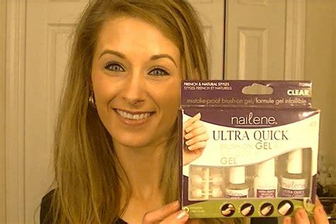 Review On Nailene Ultra Quick Brush On Gel Kit YouTube