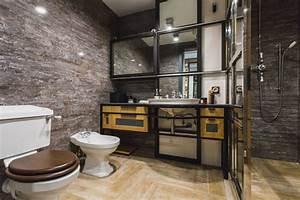Meuble Salle De Bain Style Industriel : 51 salles de bains de style industriel pour trouver de l inspiration ~ Melissatoandfro.com Idées de Décoration