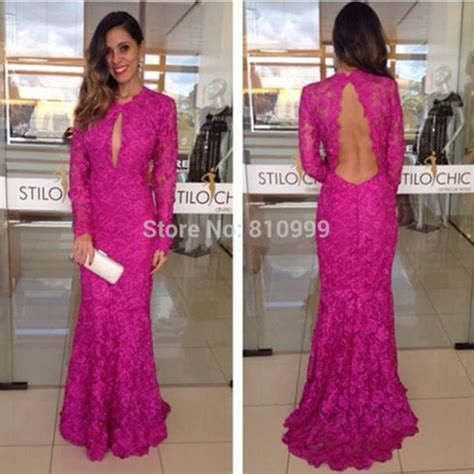 long sleeve dress lace dress evening dress mermaid
