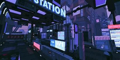 Waneella Cyberpunk Future Scenery Pixelart Pixel Scifi