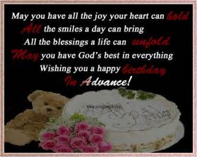 happy birthday in advance