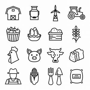 Farm icons collection Vector | Free Download