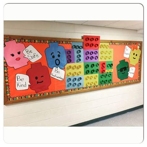 lego bulletin board  construction themed classroom